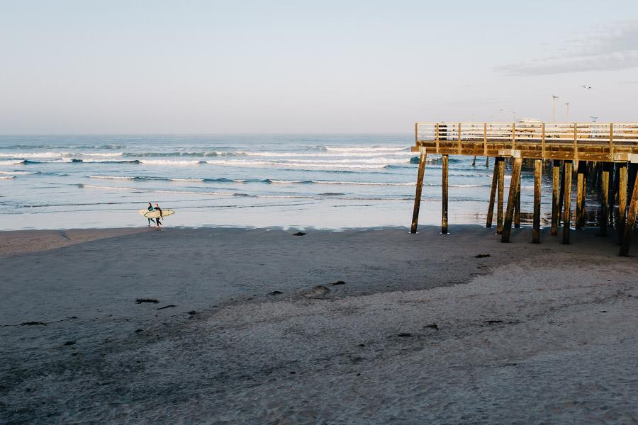 pismo beach surf sunrise