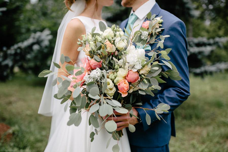 rustic kāzu ziedi