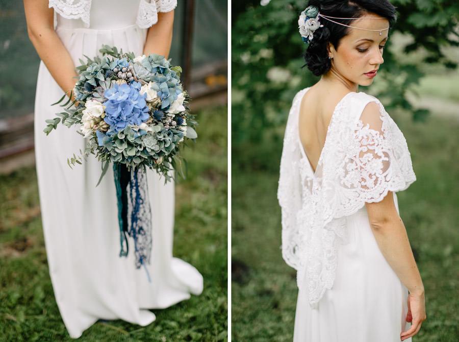 zils līgavas pušķis