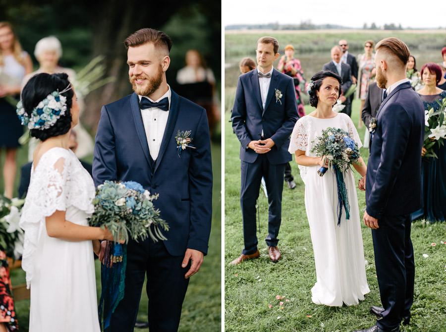 kāzu ceremonija pie upes