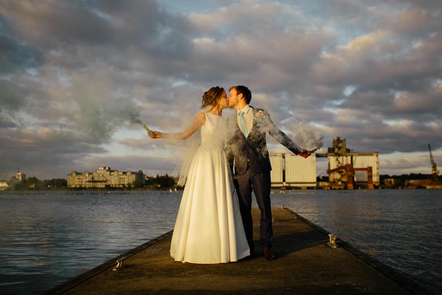 kāzas ostas skati dumu sveces