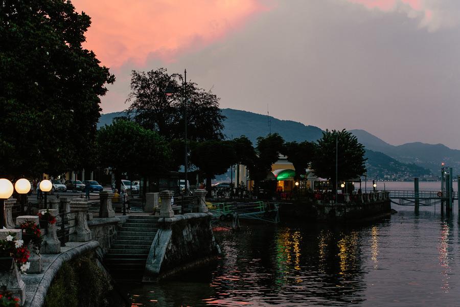 sunset lago di magiore