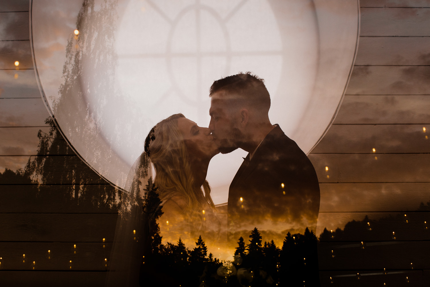 wedding double exposure