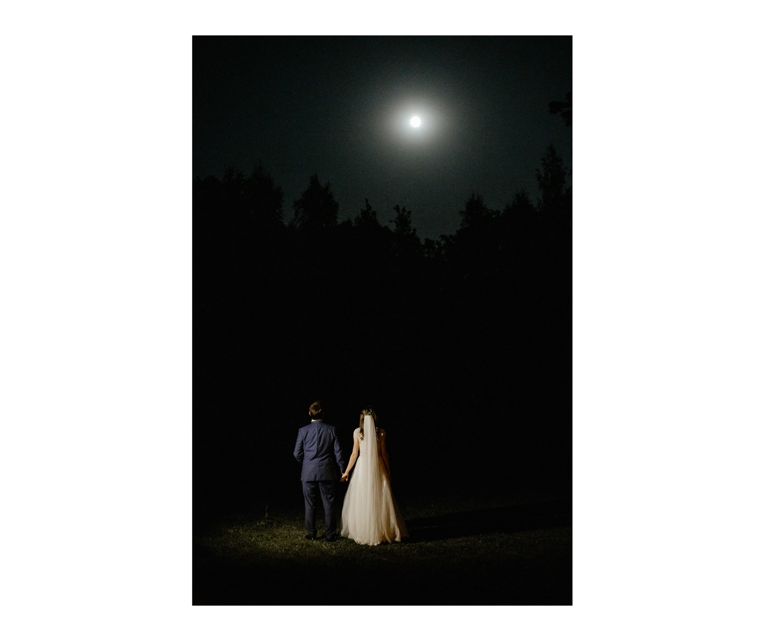 wedding photography night portrait