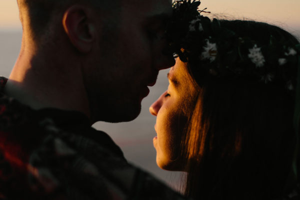 sunset engagement session riga