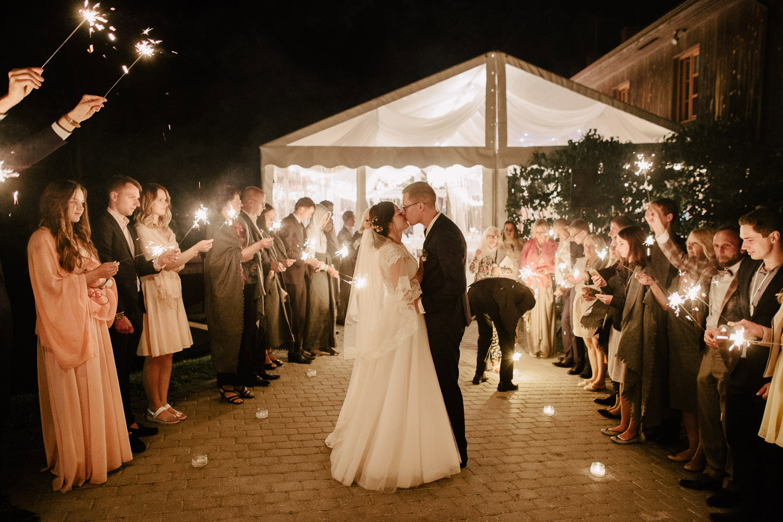 wedding sparkling exit