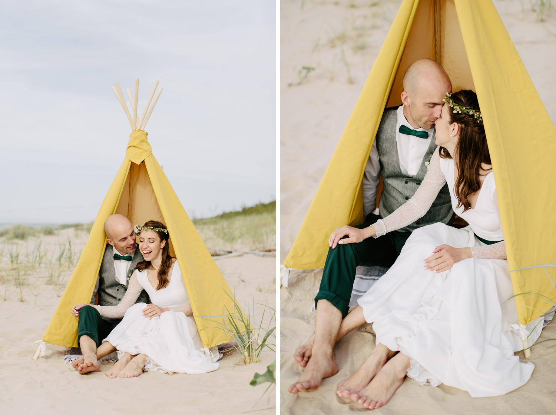 vigvams kāzās